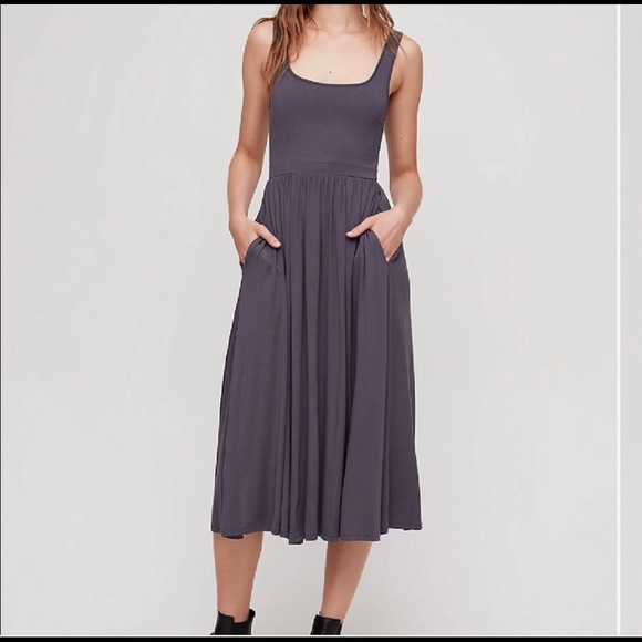 Aritzia Dresses & Skirts - Aritzia Wilfred Medium Gray Assonance Dress